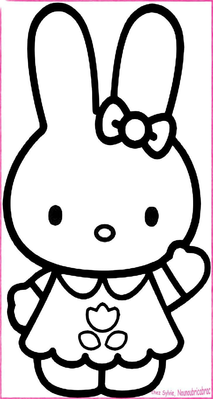 Coloriage hello kitty - Comment dessiner hello kitty ...