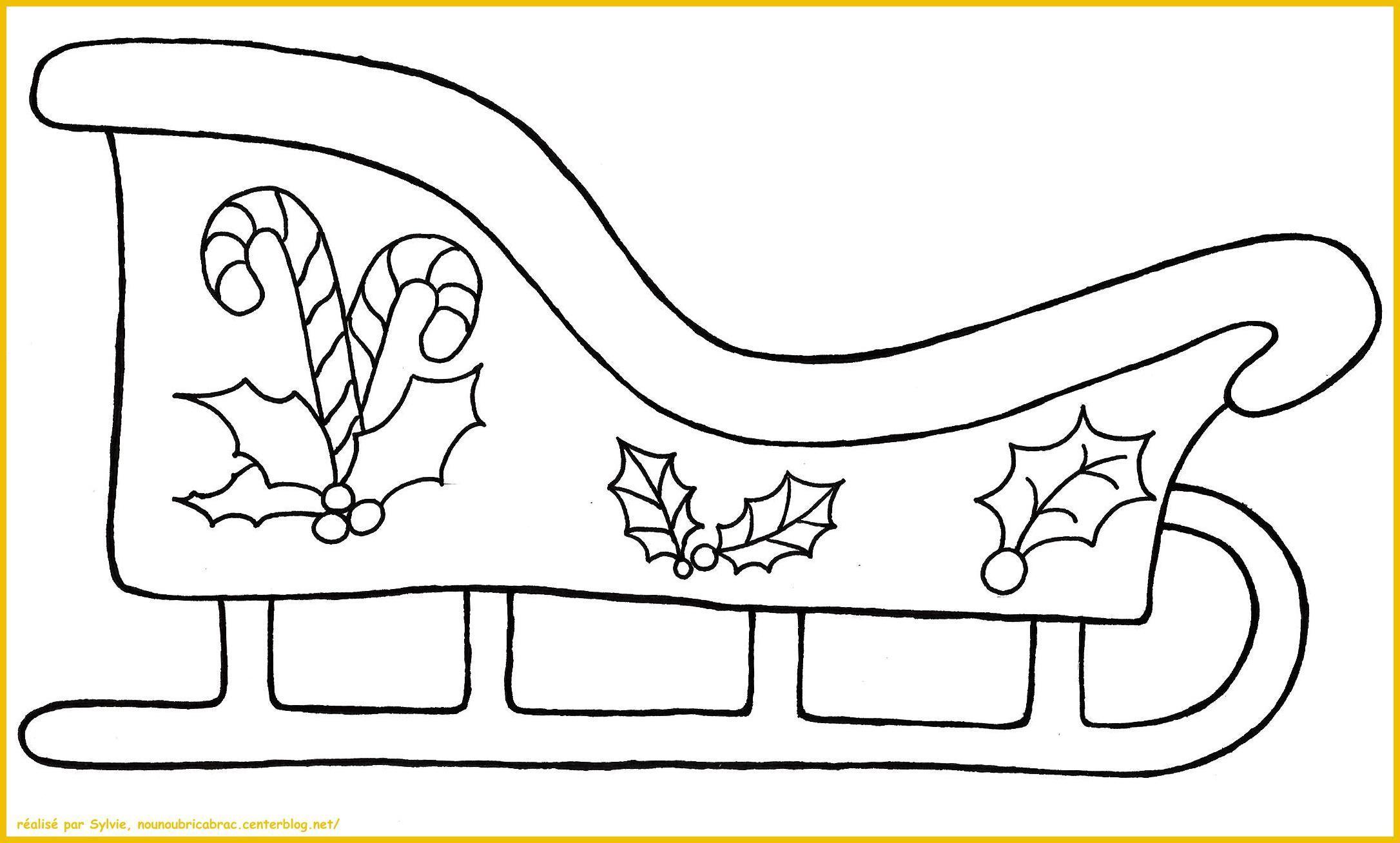 traineau du p re no l colorier. Black Bedroom Furniture Sets. Home Design Ideas
